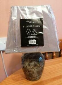 Beautiful Rare Semi Precious Stone - Moss/ Serpentine Stone Lamp & New Shade