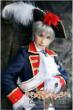 Axis Powers Hetalia APH Prussia Military Cosplay HAT Outfit Costume