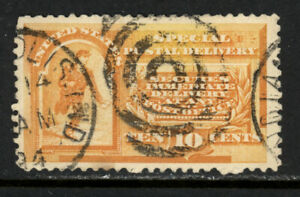 SCOTT E3 1893 10 CENT SPECIAL DELIVERY ISSUE USED VF CAT $50!