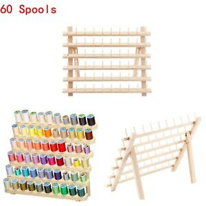 60 Spools Foldable Thread Stand Sewing Embroidery Holder Rack Organizer