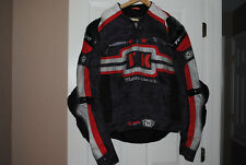 TEKNIC MOTOR SPORTS MOTORCYCLE JACKET, WITH LINER, SIZE 50, USED
