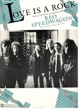 """REO SPEEDWAGON """"LOVE IS A ROCK"""" SHEET MUSIC-PIANO/VOCAL/GUITAR/CHORDS-RARE-NEW!!"""