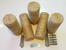New listing Set of 5 Floating Sisal Cat Steps, Floating Step, Cat Wall, Cat Scratch, New.