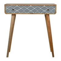 Rustic Funky Retro Scandinavian Style Console Table Hallway Unit With 1 Drawer