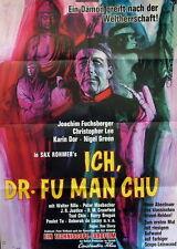 Christopher Lee ICH DR. FU MAN CHU original Kino Plakat A1