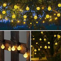50LED Solar Powered String Light Garden Path Yard Decor Lamp Outdoor Waterproof