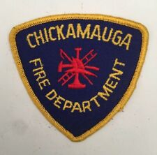 Chickamauga Fire Dept, Georgia old cheesecloth shoulder patch