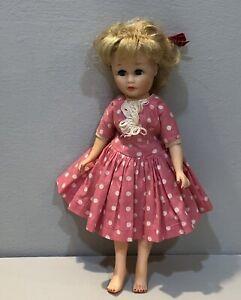 "Vintage 50's Uneeda Tiny Teen Suzette Fashion Doll 9"" Swivel Waist Nail Polish"