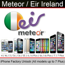 Meteor / Eir Ireland iPhone Factory Unlocking Service (All Models up to 7 Plus)