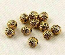 Free Ship Tibetan Gold Spacer Beads 8x8mm (Lead-free) 1pcs.