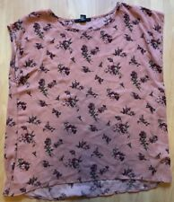 FOREVER 21 Teen Girls Blouse size L Pink Floral
