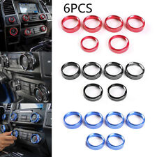 For Ford F150 2016-2018 Air Conditioner &Audio Switch Decor Ring Cover Trim Blue