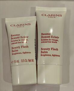 NEW Clarins Beauty Flash Balm Brighten Tighten 30ml + 15ml Apply Before Makeup