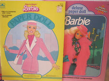 Set 0F 2 New Uncut Golden Barbie Paper Dolls ~ Deluxe Fashions & Day To Night