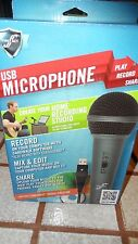 USB Microphone Pro Quality Vocal Mic Plug and Play PNP First Act Cakewalk NEW