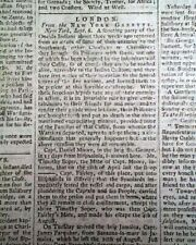 Early NATIVE AMERICANS Oneida Indians & Blacks Insurrection 1773 Old Newspaper