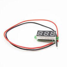 """2Pcs 2.50~30V 0.28""""Dc Digital Voltmeter Panel Mount Green Led Voltage Volt meter"""