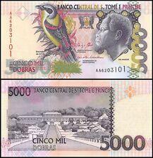 St. Thomas & Prince 5,000 (5000) Dobras, 2013, P-65d, UNC