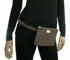 Michael Kors Logo Brown Belt Bag ~ Size Xlarge