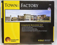 Woodland Scenics S1485 N Town and Factory Building Set. New