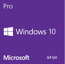 New Genuine Microsoft MS Windows 10 Professional Pro 64Bit DVD full version