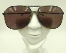Vintage Swank 34-742 Gray Oversized Aviator Sunglasses France FRAMES ONLY