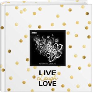 Flannel Cover Features a Frame White ERBAO Memo Photo Album 4x6 200 Photos