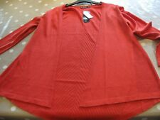 Dunnes Ladies Medium Long Orange Cardigan Brand New with Tags