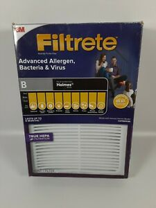 3M Filtrete B Advanced Allergen Bacteria Air Purifier Filter Holmes HAP8650-B