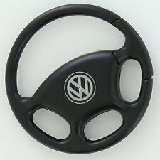 Volkswagen Black Steering Wheel With Black Nickel Key Chain