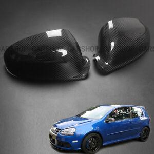 For VW Golf 5 MK5 GTI Passat 05-09 Real Carbon Fiber Side Mirror Cover Cap Add