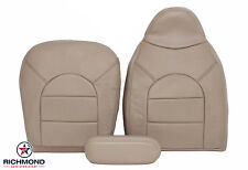 1999 Ford F350 Lariat -Complete Driver Side Replacement Leather Seat Covers TAN