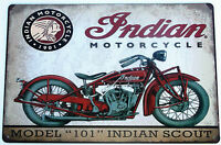 INDIAN MOTORCYCLE  METAL TIN SIGNS vintage cafe pub bar garage decor shabby chic