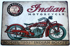 INDIAN MOTORCYCLE segni in metallo latta VINTAGE CAFE PUB BAR Garage decor shabby chic