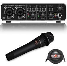 Behringer U-PHORIA UMC202HD - USB 2.0 Audio Interface with enCore 200 Vocal Mic