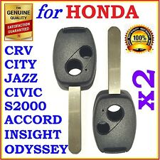 Fit Honda Accord/CRV/Civic/City/Jazz/Odyssey/S2000 Two Button Key Remote Shell