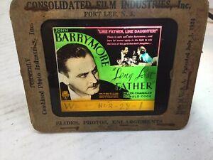 "1924 MovieAd RKO Radio Glass Slide ""Long lost Father""JohnBarrymore Magic Lantern"