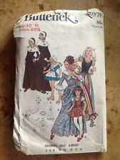 VINTAGE BUTTERICK 5979 GIRLS SIZE 10 PILGRIM & MORE COSTUME PATTERN