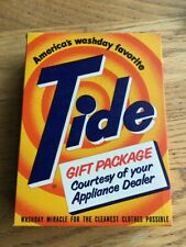Vtg Antique Tide Soap Box full Appliance Dealer Sample Laundry Detergent 7.5 oz