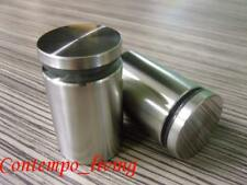 """1-1/2"""" Diameter 2-1/8"""" Base Stainless Steel Standoff Hardware for Glass Display"""