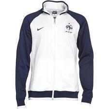 Nike Men's Authentic France Core Trainer Jacket White / Blue 4499696 100  2XL