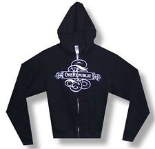 One Republic - Banner Logo Black Zip Hoodie - New Xs