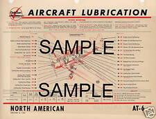 REPUBLIC SEABEE AIRCRAFT LUBRICATION CHART CC
