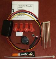Motorbike LED and Buzzer Indicator Warning Device with Adj Delay and BRAKE MOD