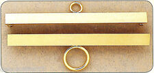 Set de 2 Soportes Bordado de metal dorado 18 cm