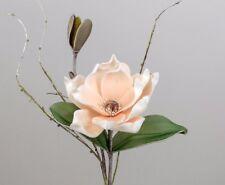Formano Kunstblumen Magnolienzweig Tischdeko lachs-weis = 42 cm