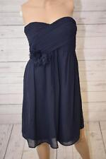 Esprit Collection Damen Bustier Kleid mit Blumendekor blau Gr. 34