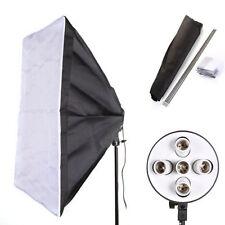 60 x 90cm Studio Softbox +E27 5 in 1 Socket Photo Light Lamp Bulb Bracket Holder