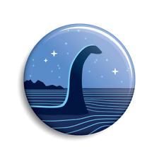 Nessie (Loch Ness Monster) Button