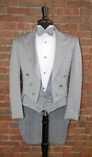 MENS 36 S GREY TAIL TUXEDO JACKET / PANT / SHIRT / VEST / BOW by Christian Dior
